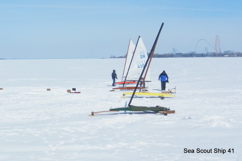 Snow covered ice really slows or prevents iceboats from getting up to speed.