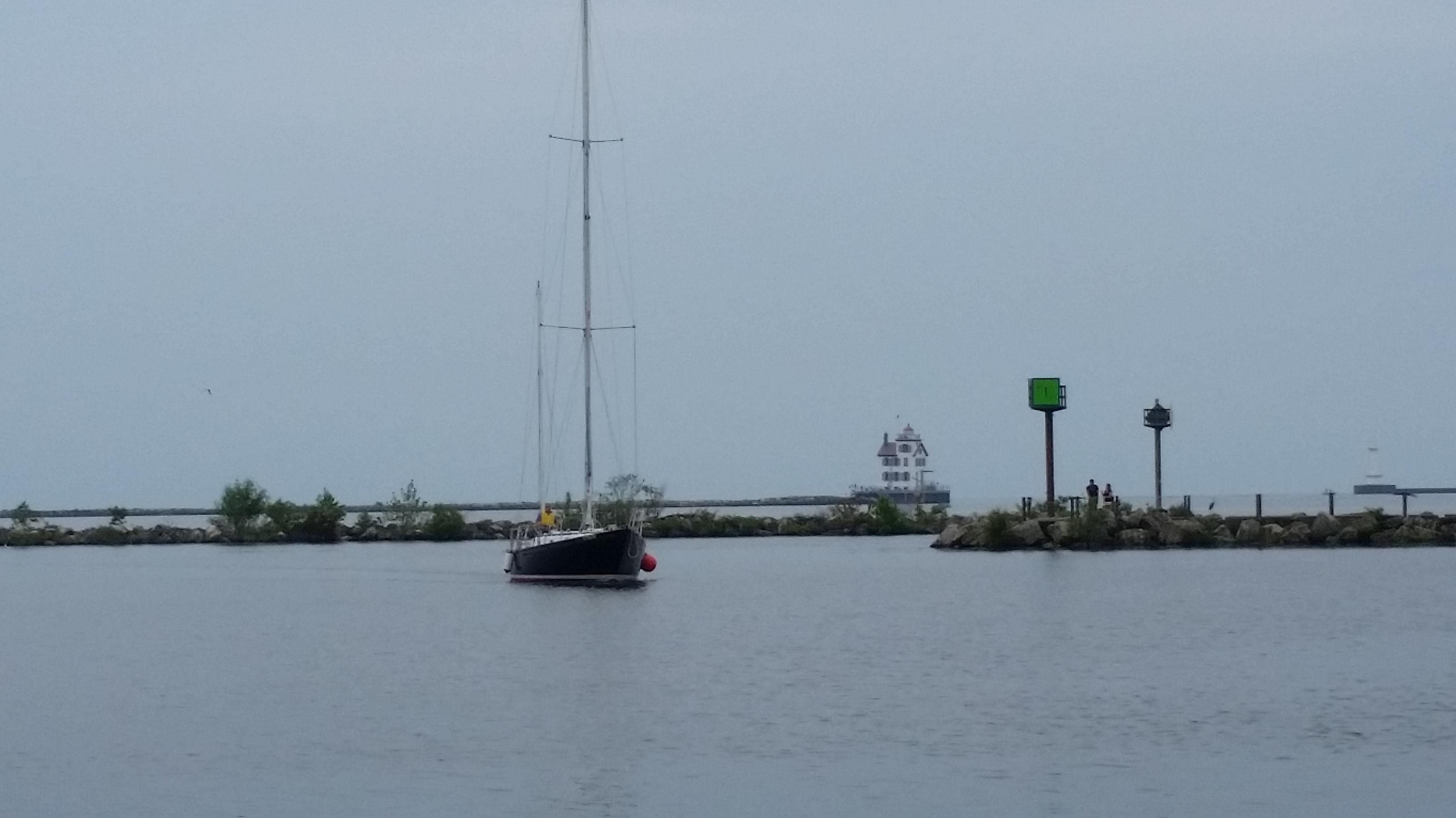 Intrepid motoring to dock
